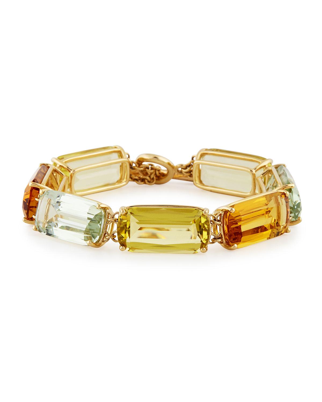 Goshwara Gossip Citrine Bracelets with Diamond Toggle HlZKJFjE