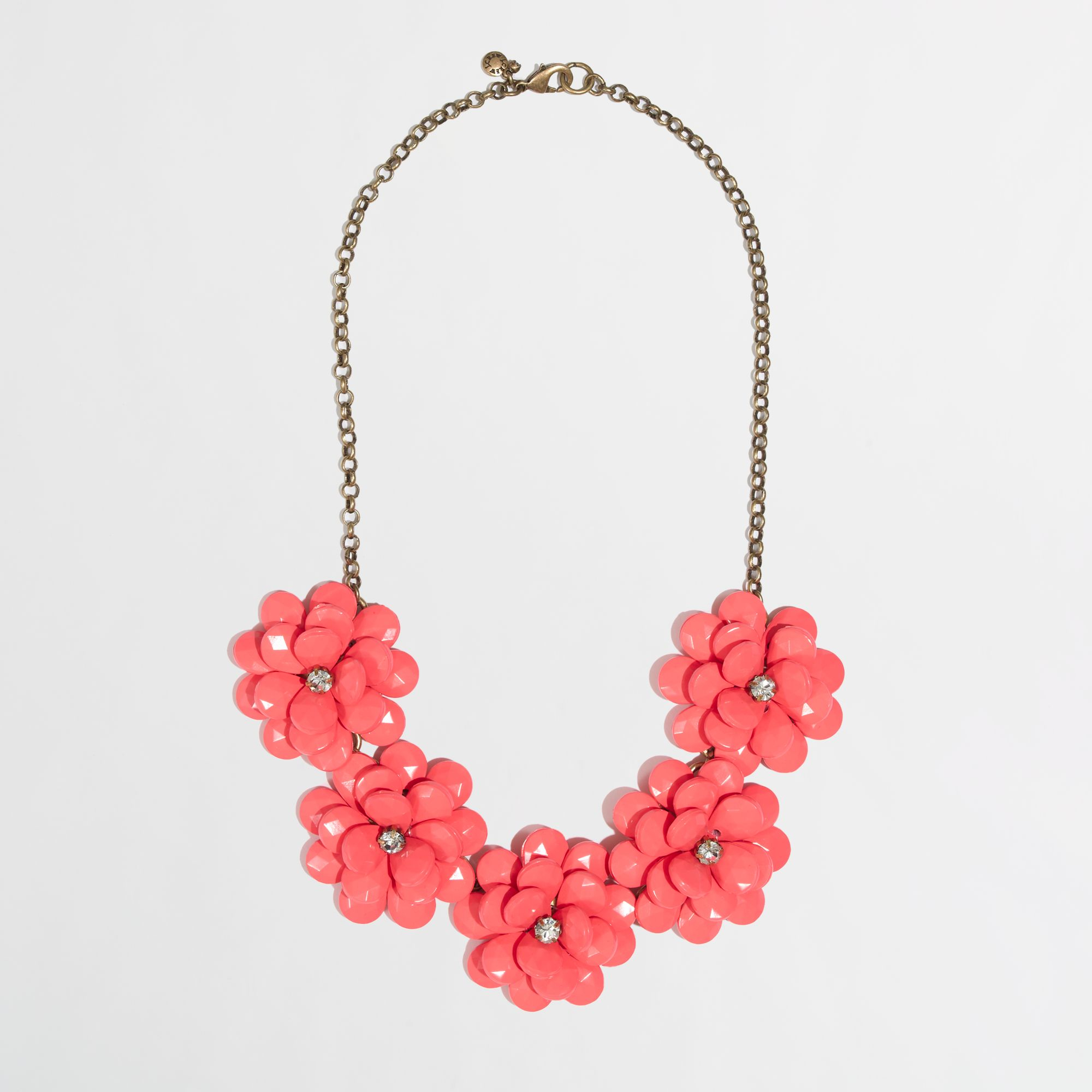53018ddc0208b8 J.Crew Factory Crystal Floral Burst Necklace in Pink - Lyst