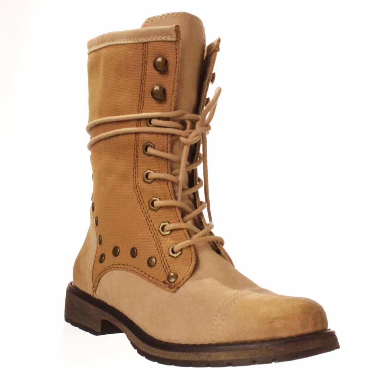 Brown Combat Shoes