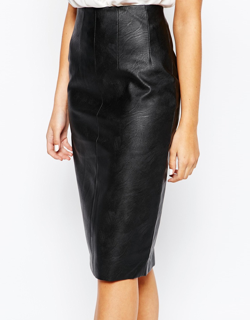 1e1f7ec6eb Oasis Faux Leather Pencil Skirt – DACC