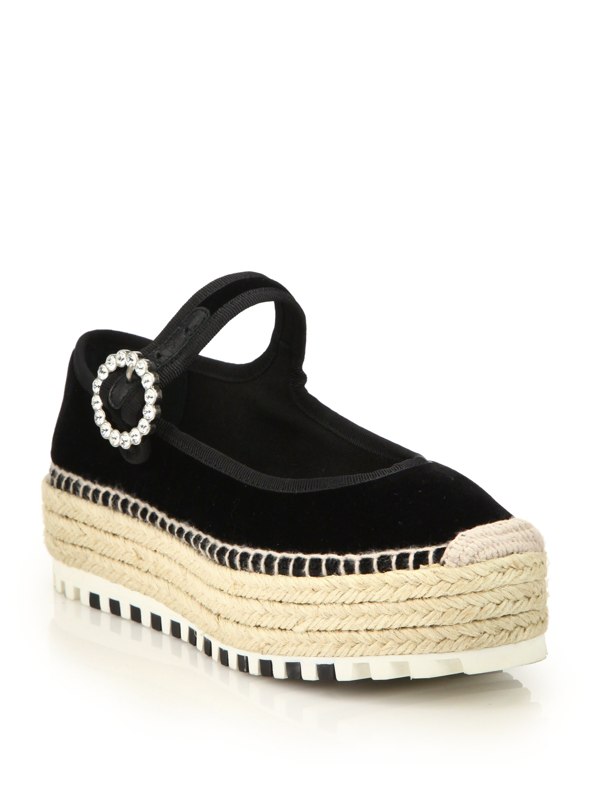 Marc by marc jacobs Suzi Velvet Espadrille Mary Janes in ...