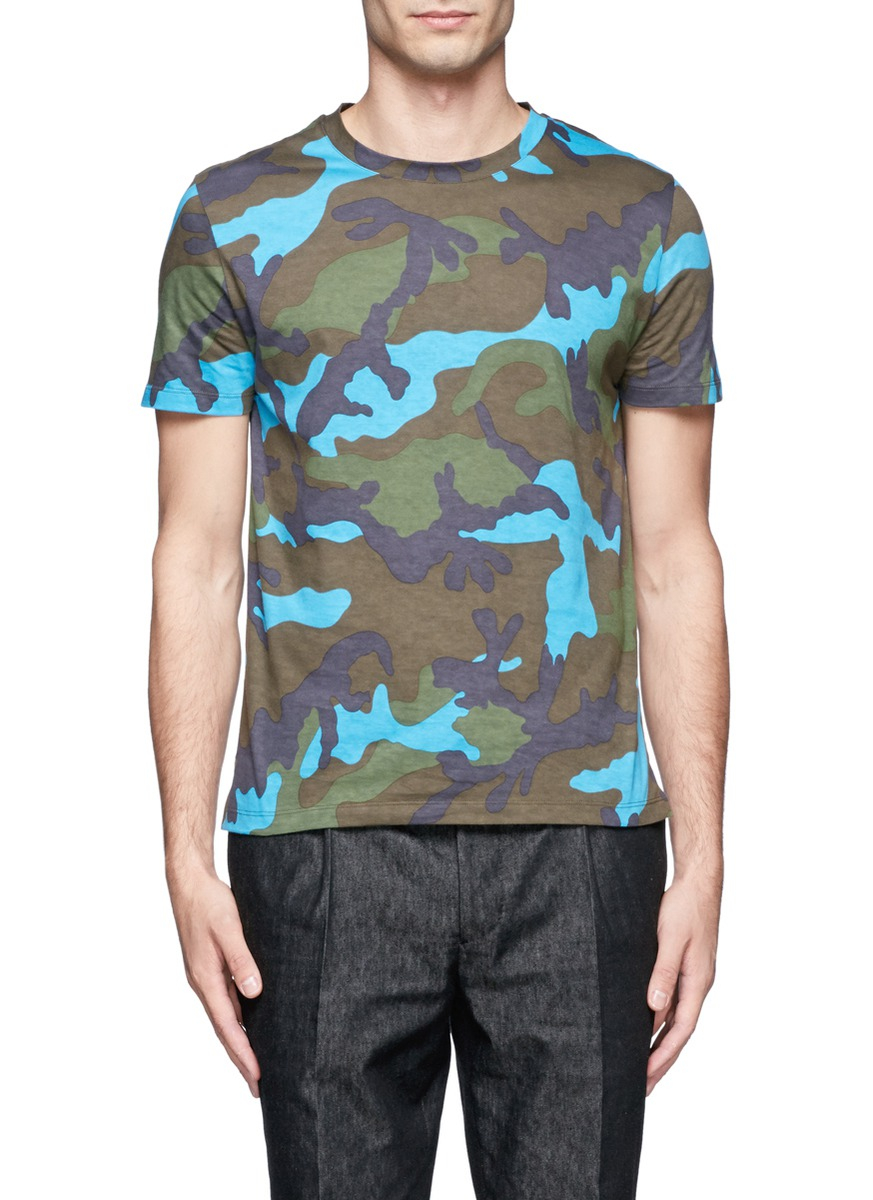 Image result for VALENTINO camouflage print T-shirt