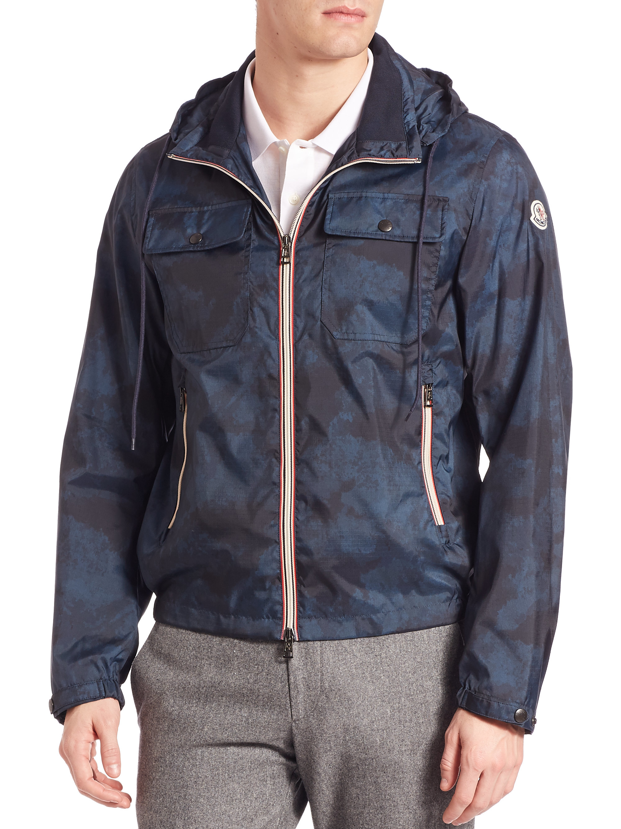 ... specifications; navy moncler jacket