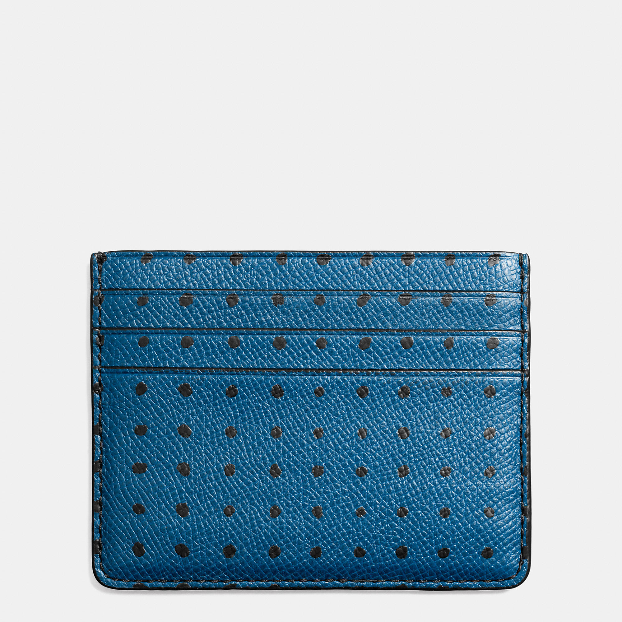 Lyst coach card case in printed crossgrain leather in for Business card holder coach