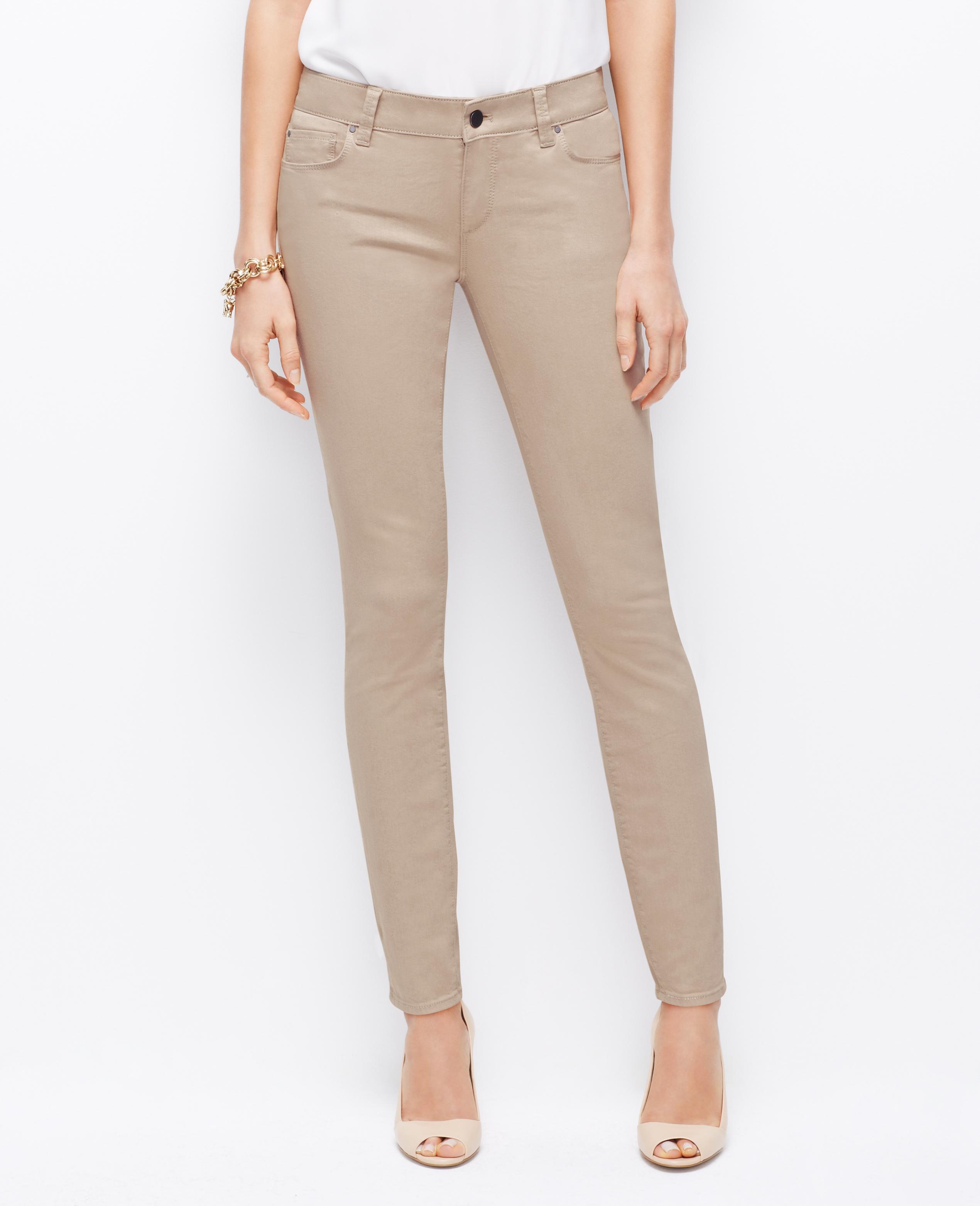 Khaki skinny jeans tall