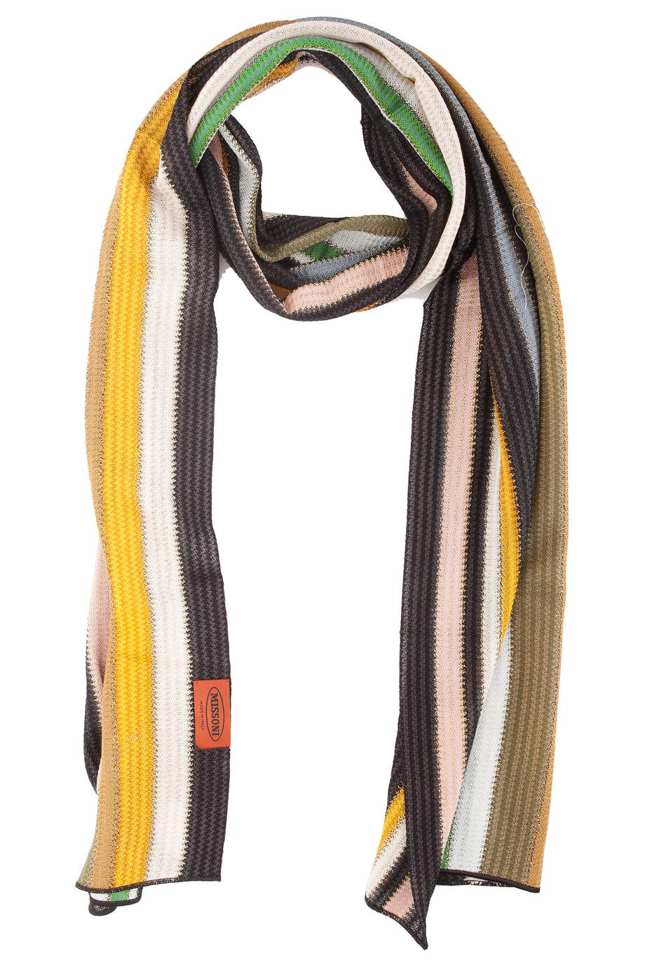 missoni lurex stripe scarf in multicolor multi lyst