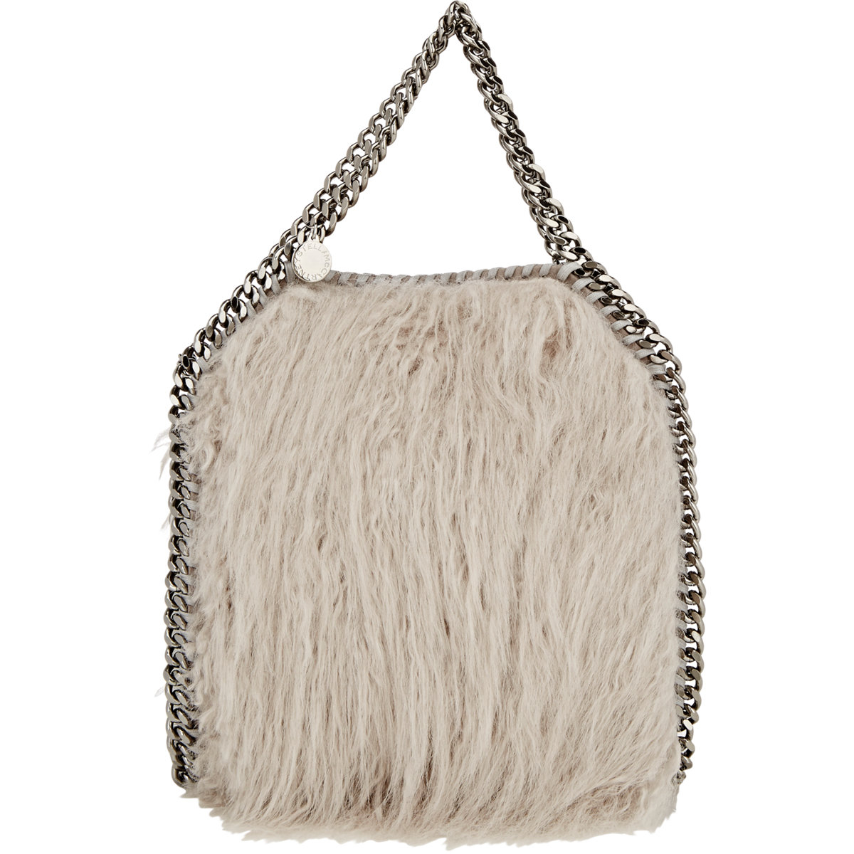 Lyst - Stella McCartney Faux-fur Falabella Mini-tote in Gray 3a3fd056beecc