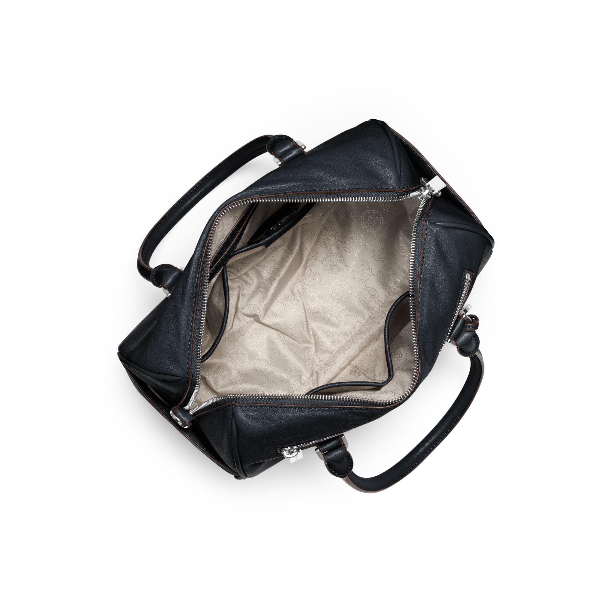 michael kors sophie large top zip satchel in blue lyst. Black Bedroom Furniture Sets. Home Design Ideas