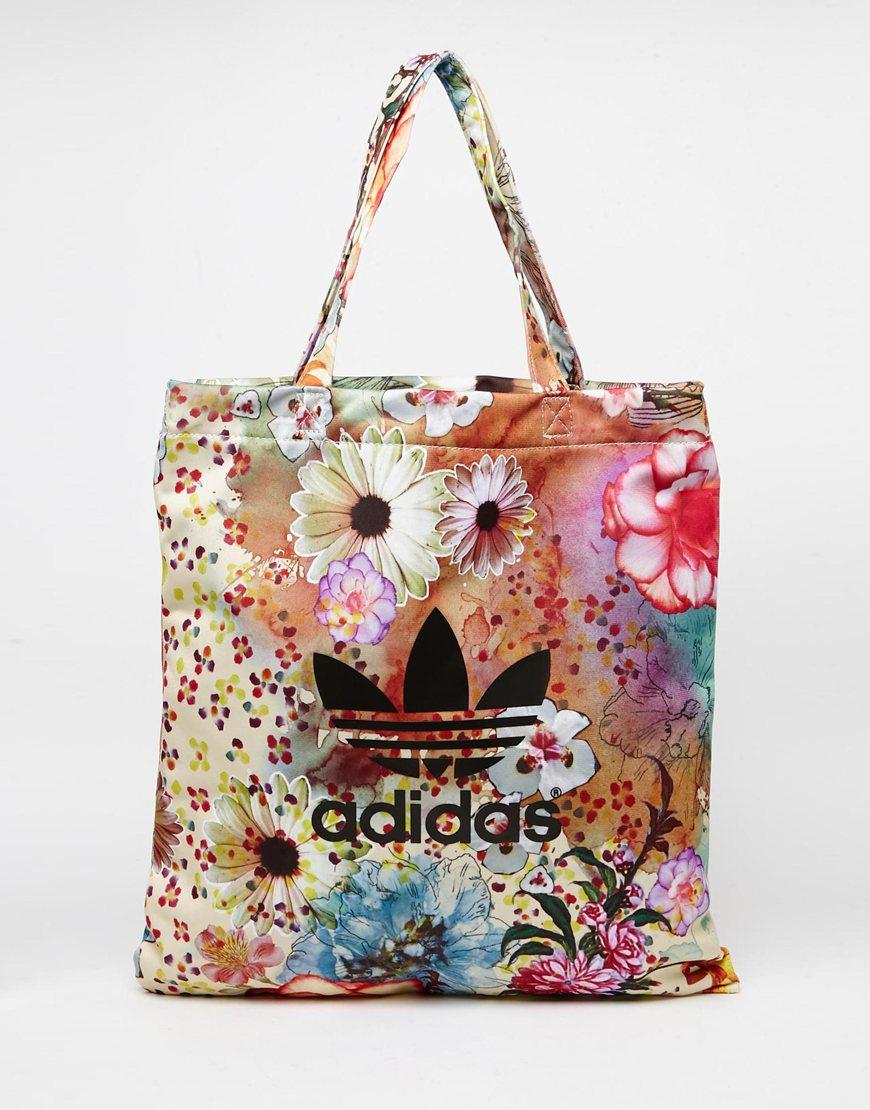 fc1b277fe5 Lyst - adidas Originals Originals X Farm Floral Shopper in Natural