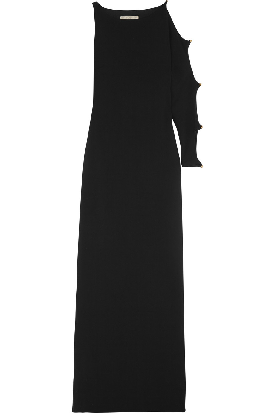 303d180f8bc91 Halston Asymmetric Cutout Jersey-Crepe Gown in Black - Lyst