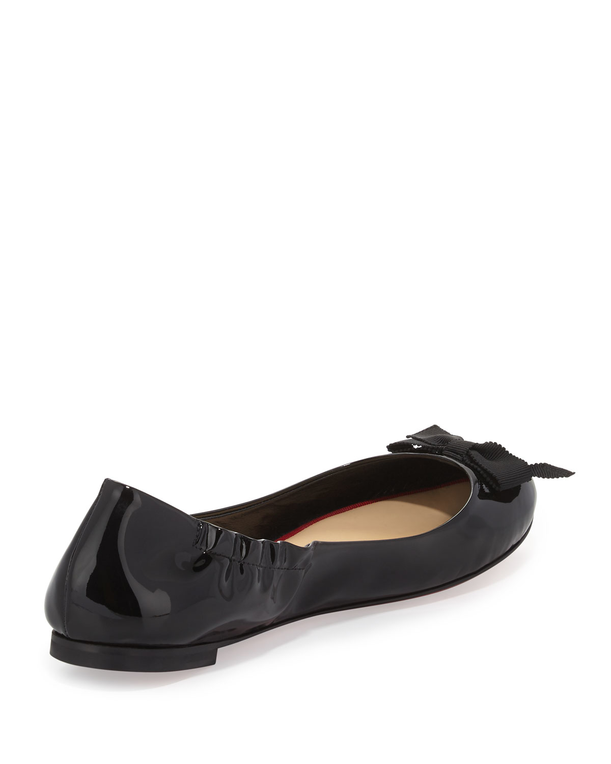mens spiked loafers christian louboutin - christian louboutin espadrille flats Black leather bow details ...