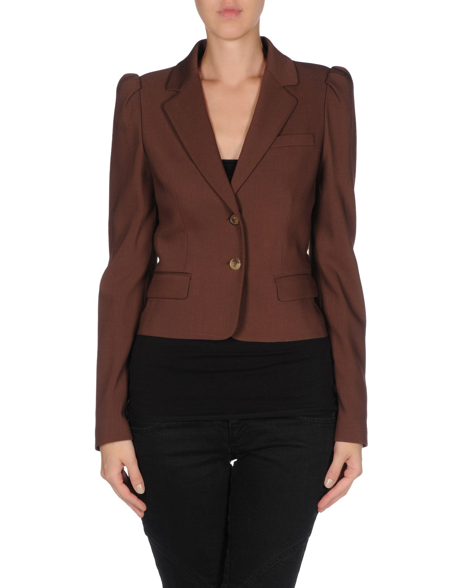 michael kors blazer in brown save 71 lyst. Black Bedroom Furniture Sets. Home Design Ideas