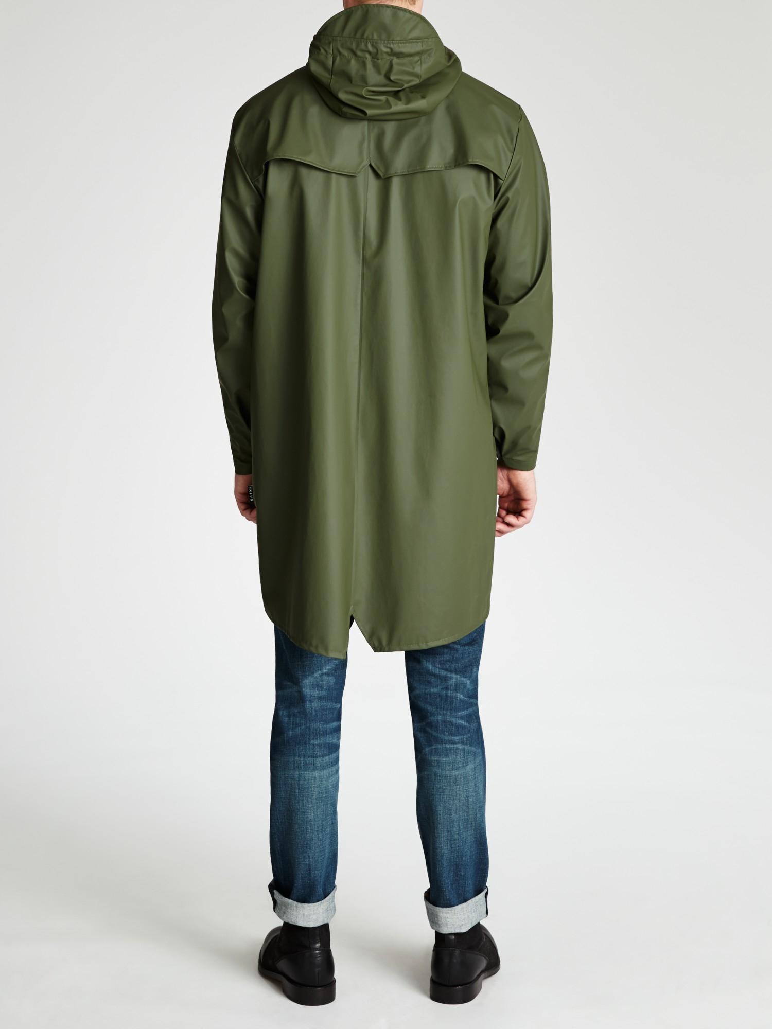 Rains Long Waterproof Jacket in Natural for Men | Lyst