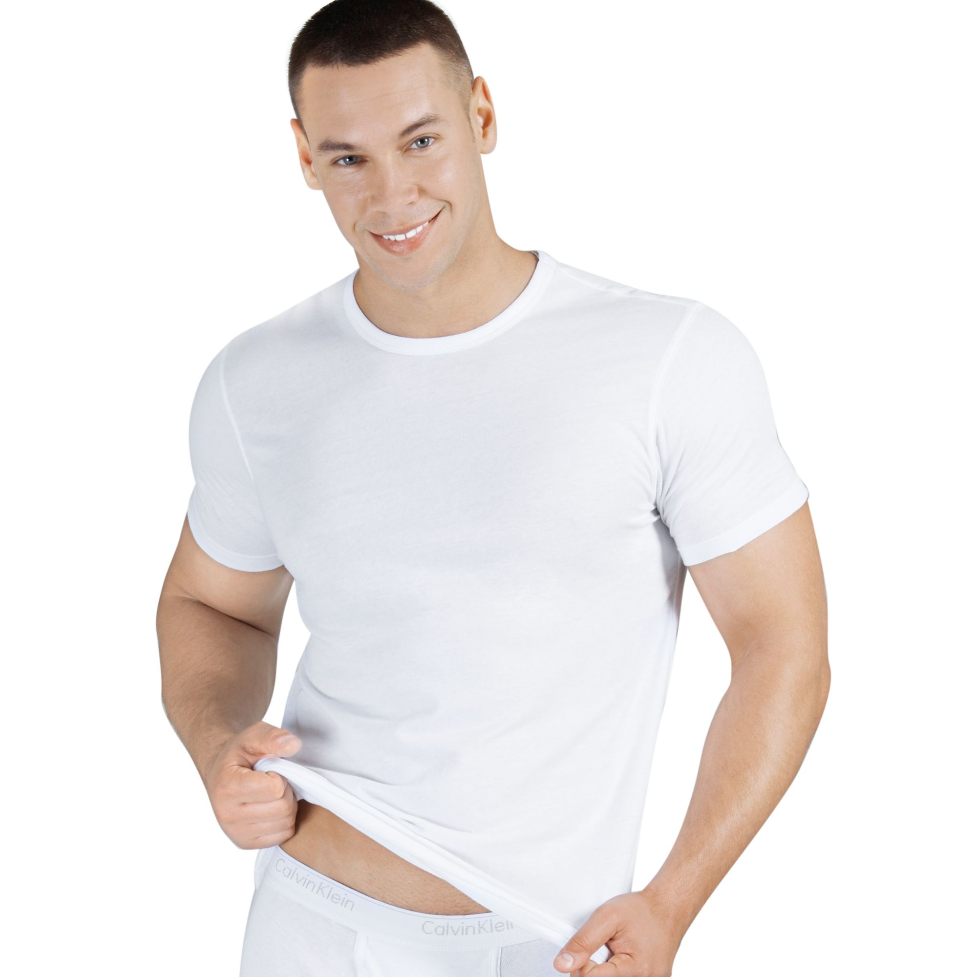 a139fe15 Calvin Klein Body Slim Fit T Shirt 3 Pack in White for Men - Lyst