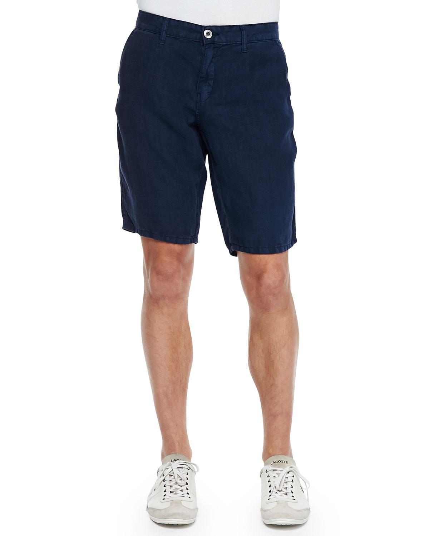 Original paperbacks Havana Linen Shorts Navy in Blue for Men | Lyst