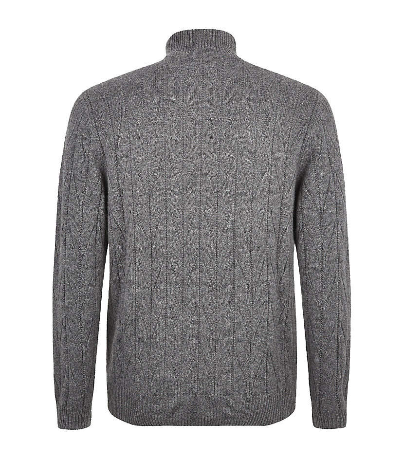 Knitting Pattern Half Zip Sweater : Bogner Herringbone Knit Half-Zip Sweater in Gray for Men Lyst