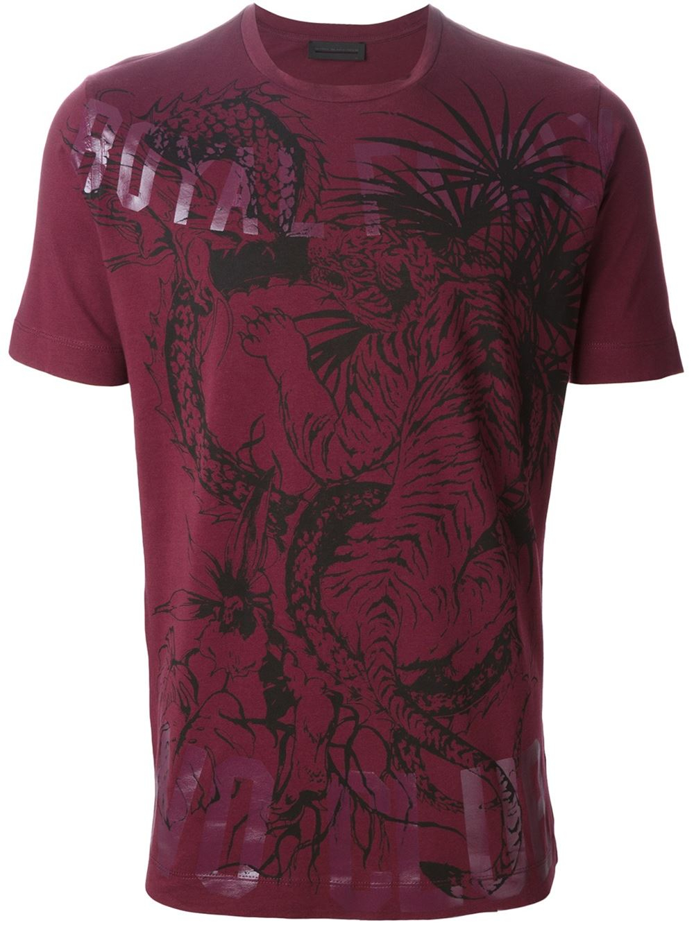 Diesel black gold toriciy royal club t shirt in purple for for Royal purple mens dress shirts