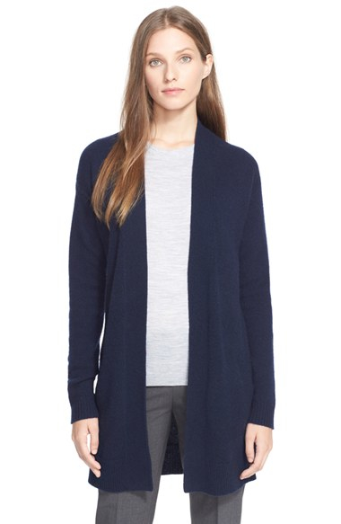 Theory 'analiese' Open Front Cashmere Cardigan in Blue | Lyst