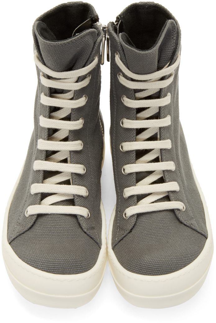 high top sneakers - Grey Rick Owens 4Gce5DOae