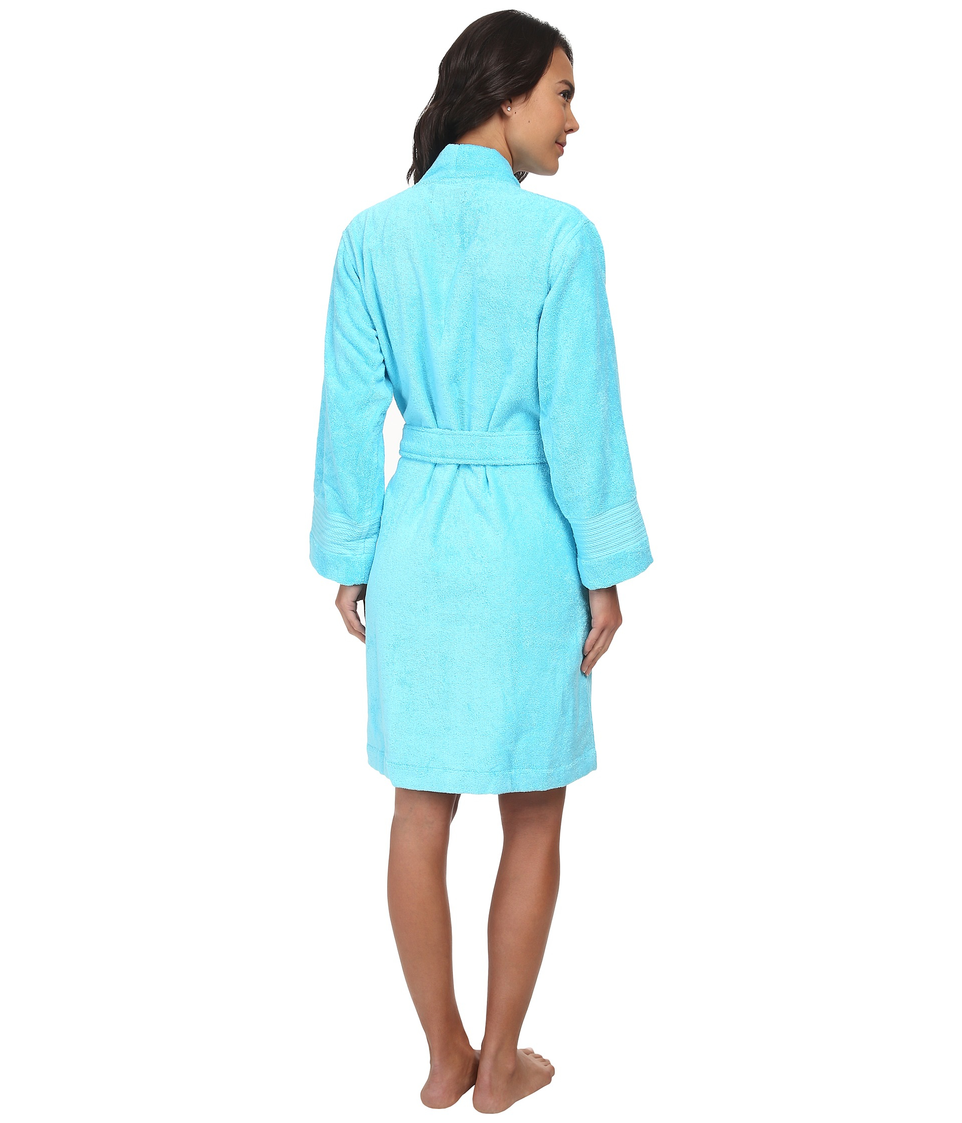 lauren by ralph lauren greenwich woven terry robe in blue lyst. Black Bedroom Furniture Sets. Home Design Ideas