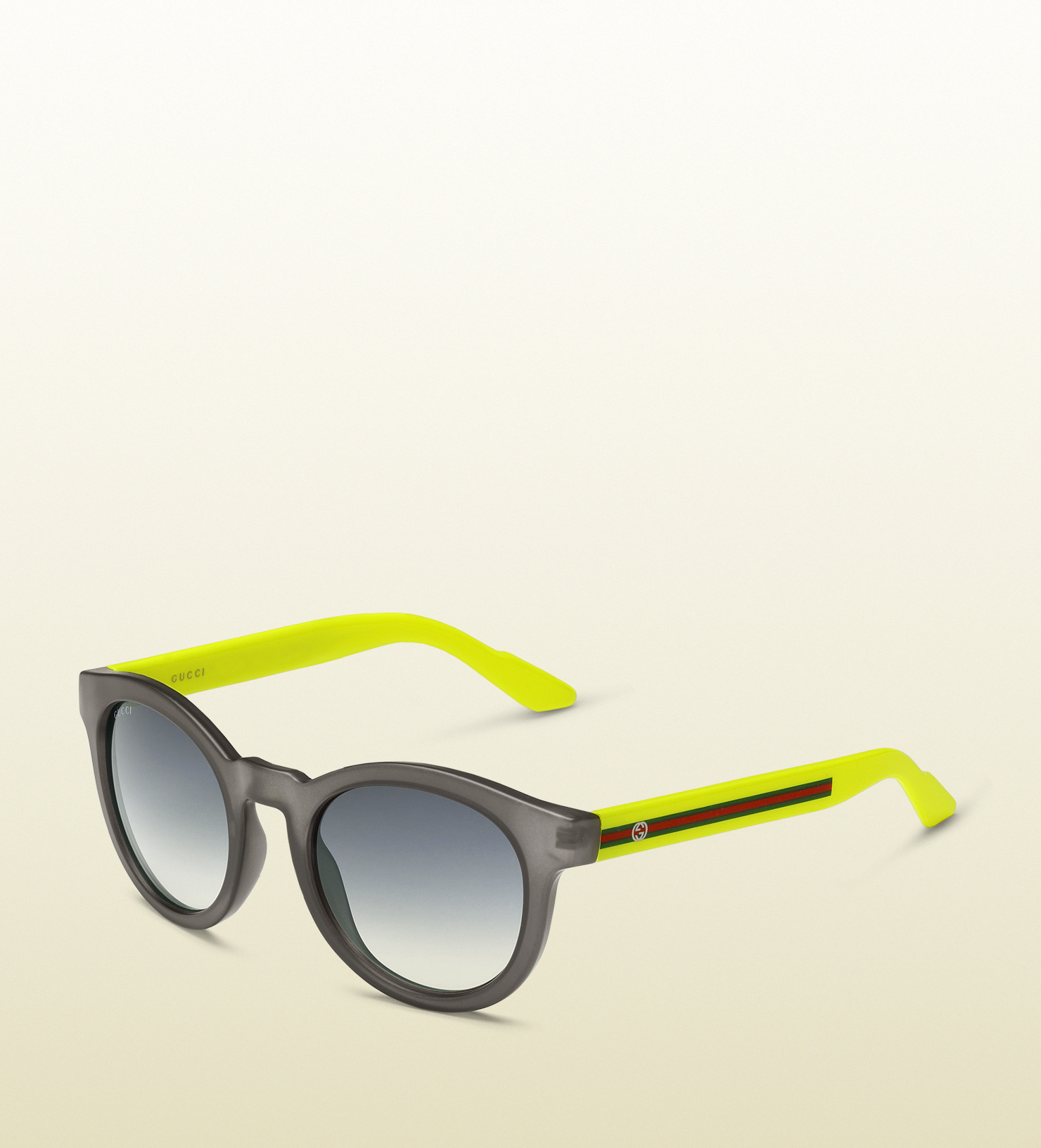 8ac646f6974 Lyst - Gucci Round Vintage Inspired Biobased Sunglasses in Yellow