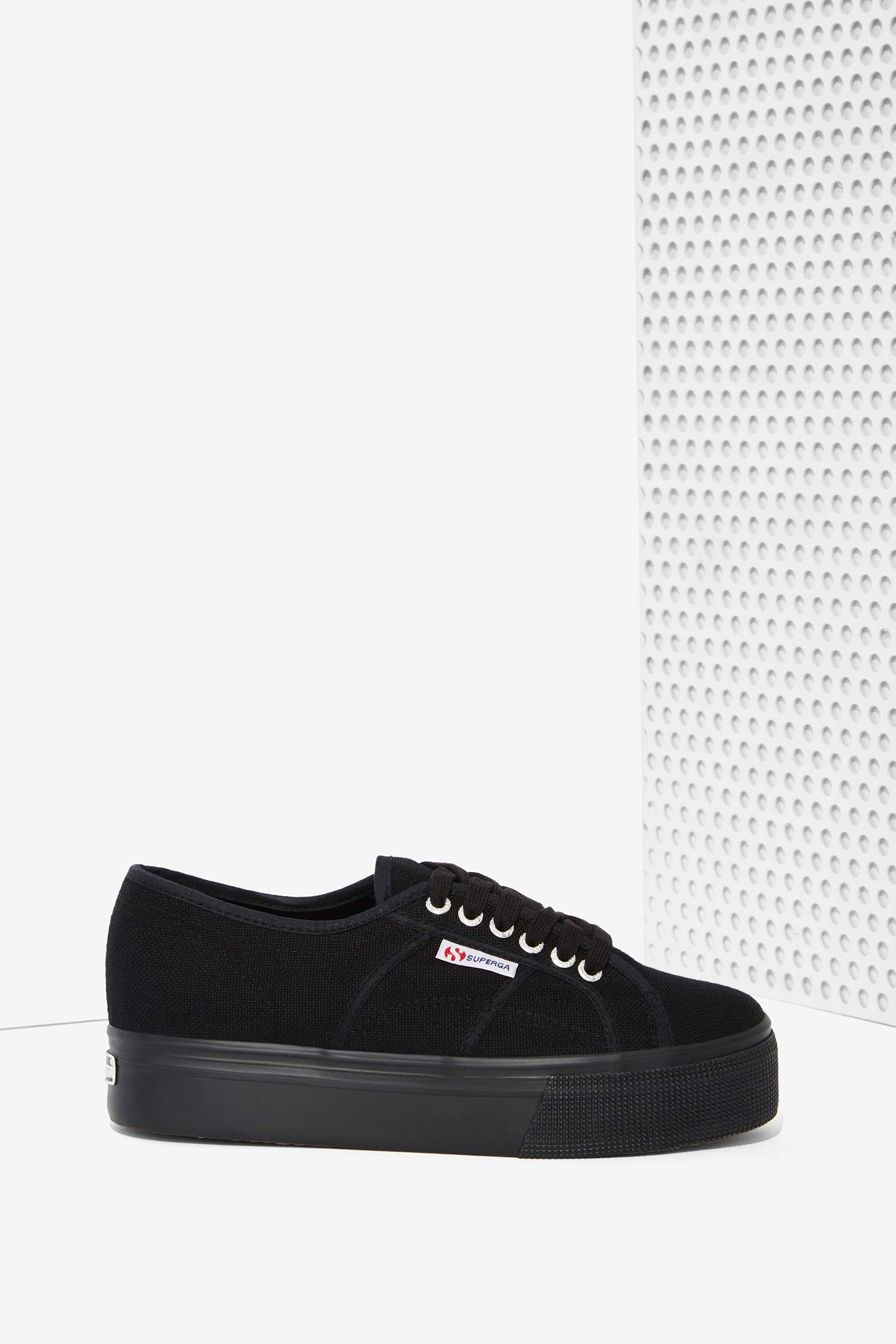 Superga: Superga Up And Down Platform Sneaker In Black