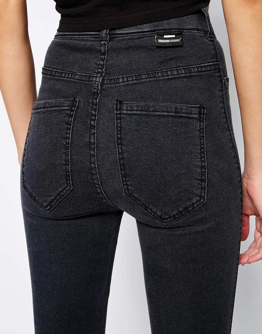 competitive price best cheap highly coveted range of Dr. Denim Solitaire High Waist Super Skinny Jeans in Black ...