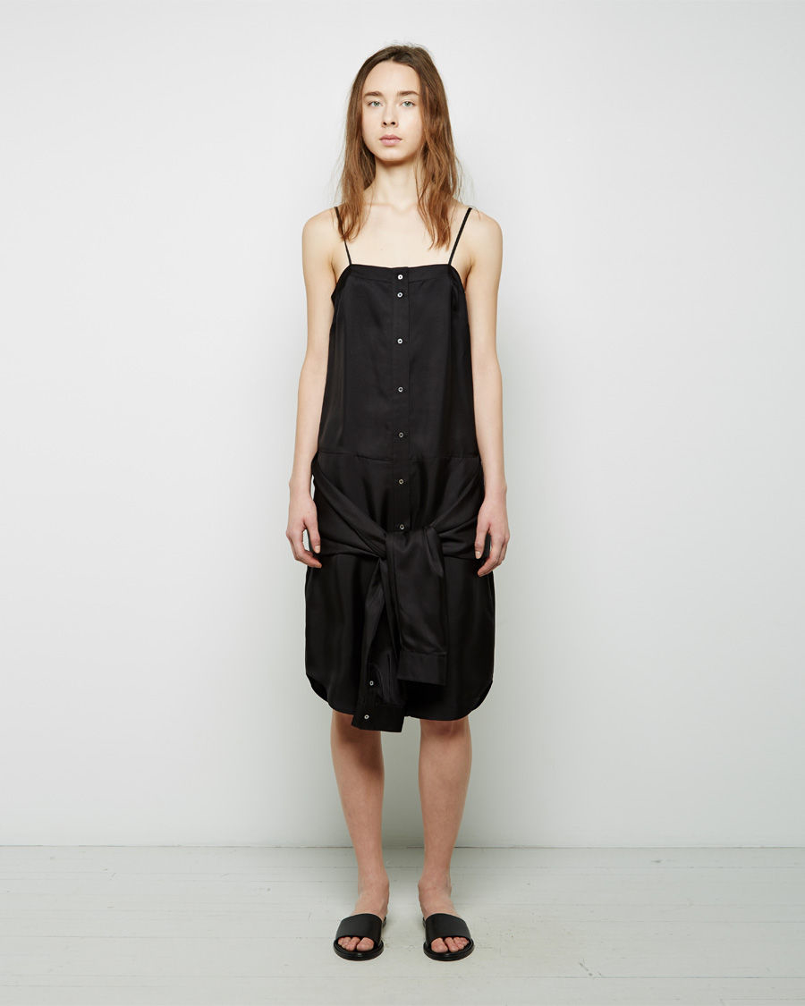 lyst t by alexander wang shirtsleeves silk cami dress in. Black Bedroom Furniture Sets. Home Design Ideas