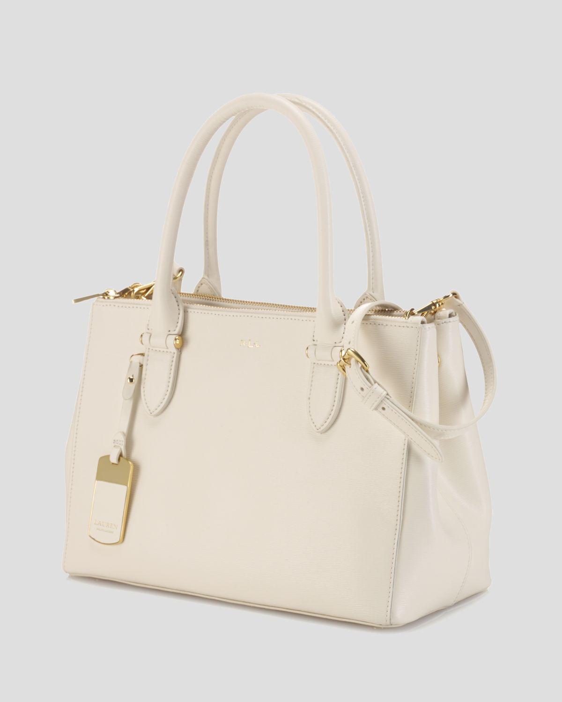 384860826a8 Lyst - Ralph Lauren Lauren Tote Newbury Double Zip Shopper in Natural