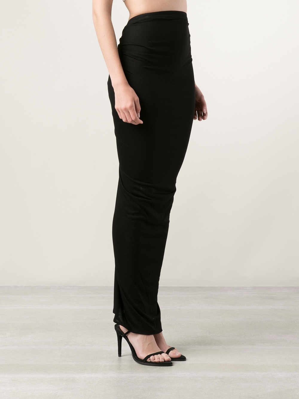 Givenchy Fitted Maxi Skirt in Black | Lyst