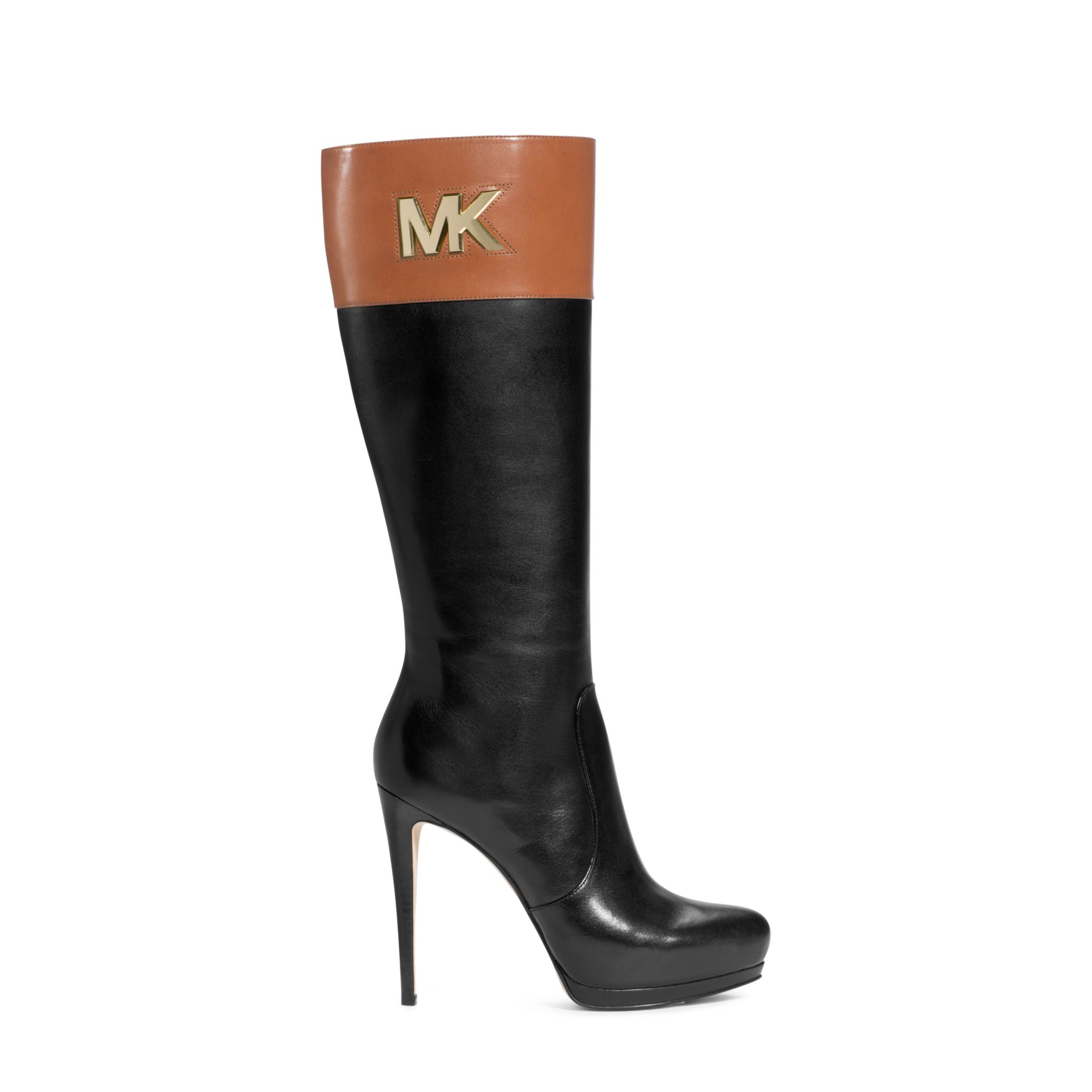 7e21bfb04ce4 Lyst - Michael Kors Hayley Boot in Black