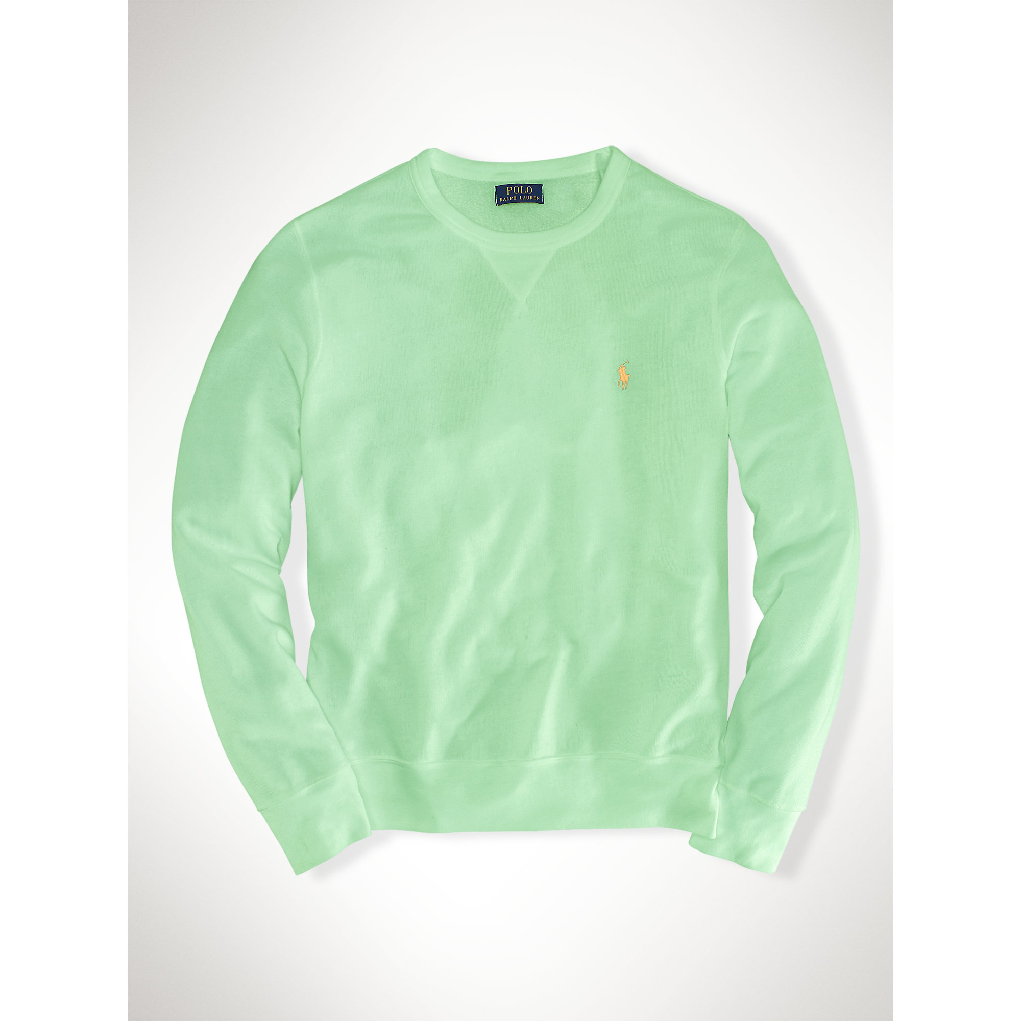 polo ralph lauren atlantic terry striped crew neck sweatshirt