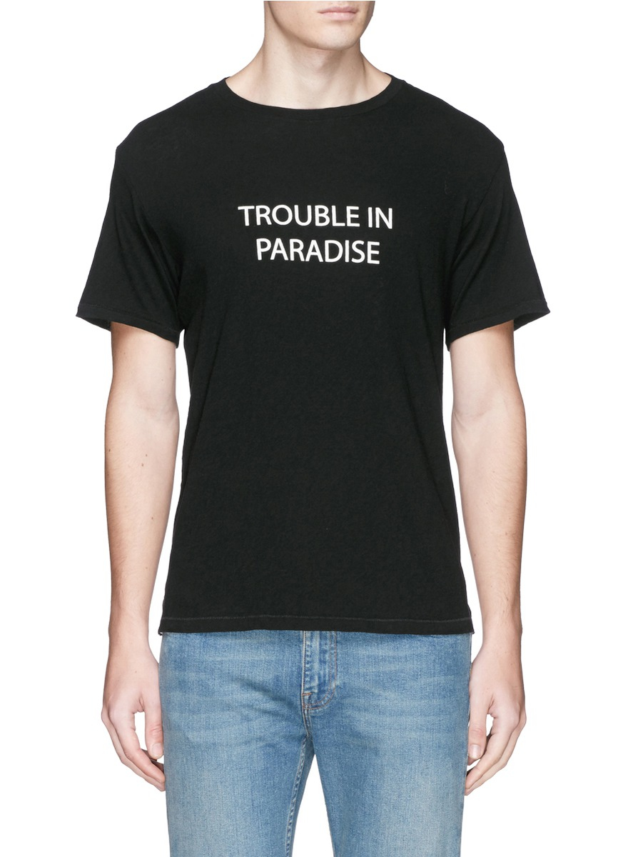 Rag Bone 39 Trouble In Paradise 39 Print T Shirt In Black