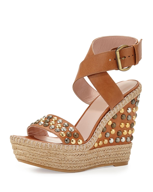 Stuart Weitzman Embossed Studded Sandals latest sale online LEuKT2W8Ow
