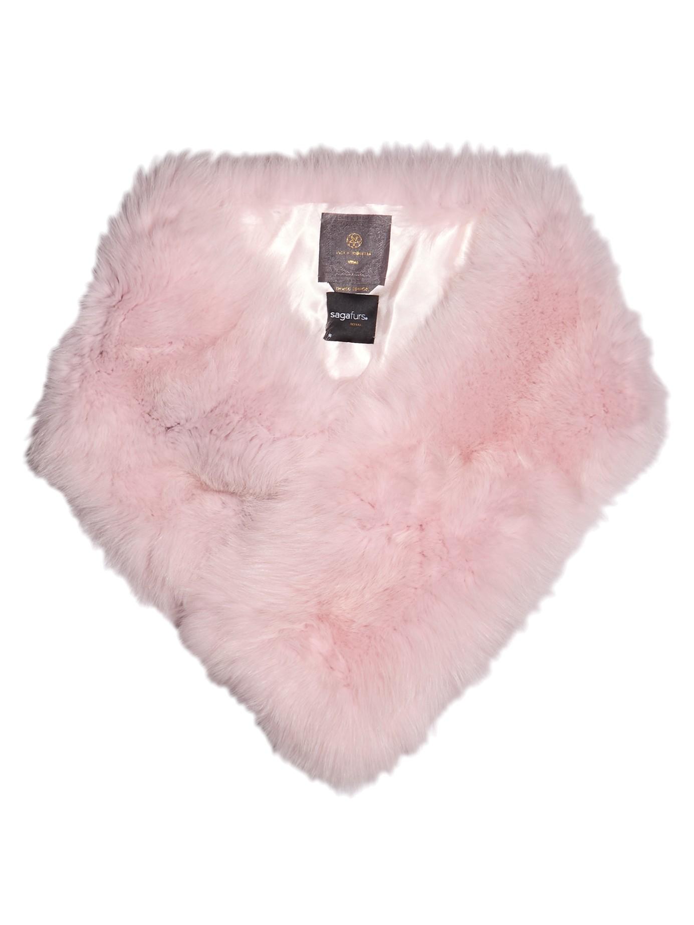 Lyst - Lilly E Violetta Fox-fur Scarf in Pink b38c5d351be4