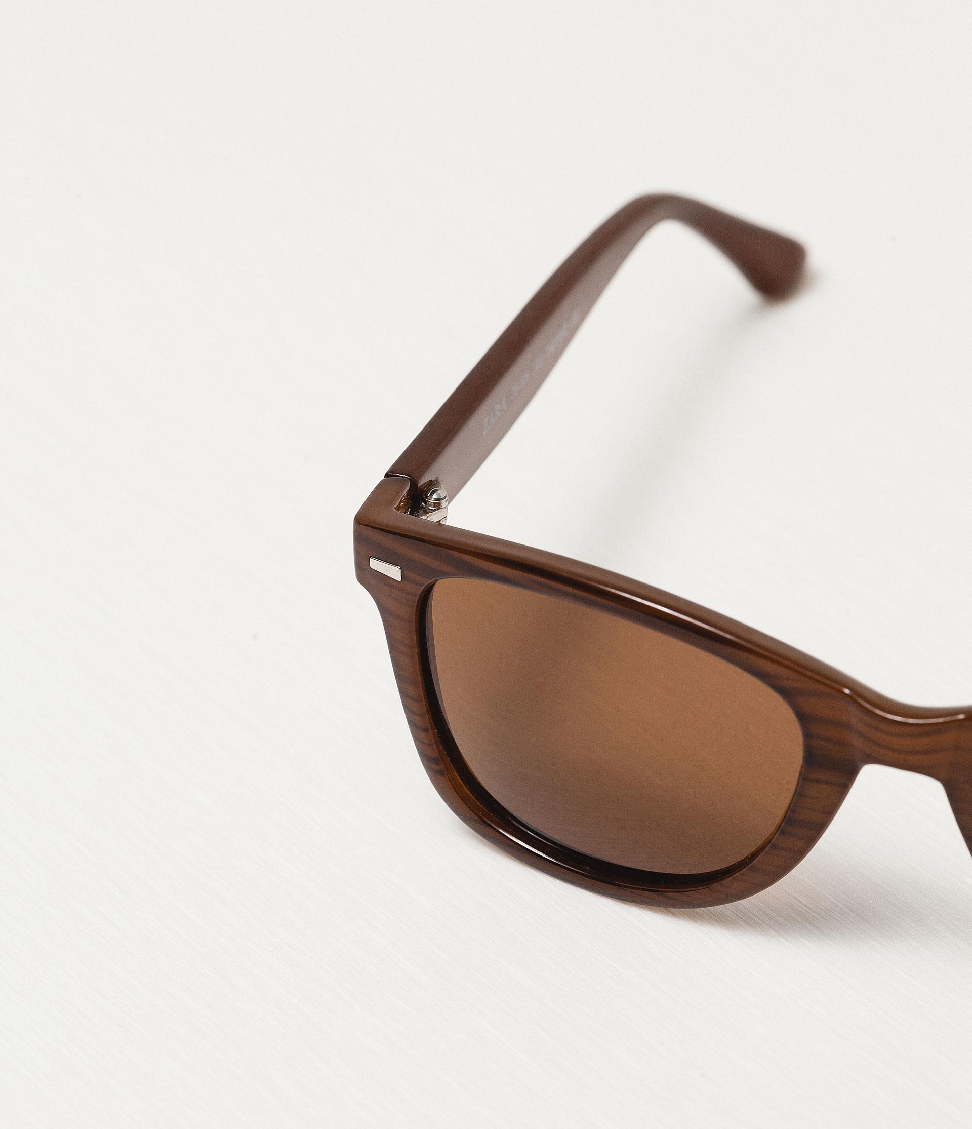 Zara Glasses Frames : Zara Caramel Frame Sunglasses in Brown for Men Lyst