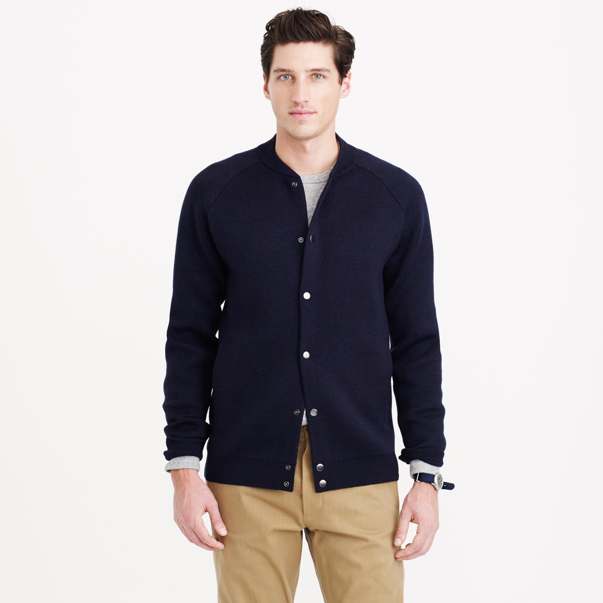 Lyst j crew norse projects arnold neoprene jacket in for J crew mens outfits