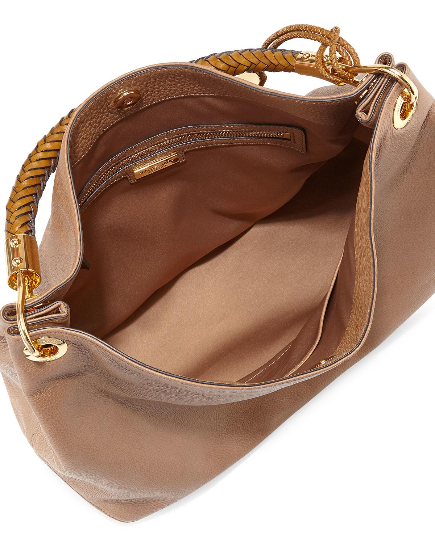 133dab9b198f3c Lyst - Michael Kors Large Skorpios Shoulder Bag in Brown