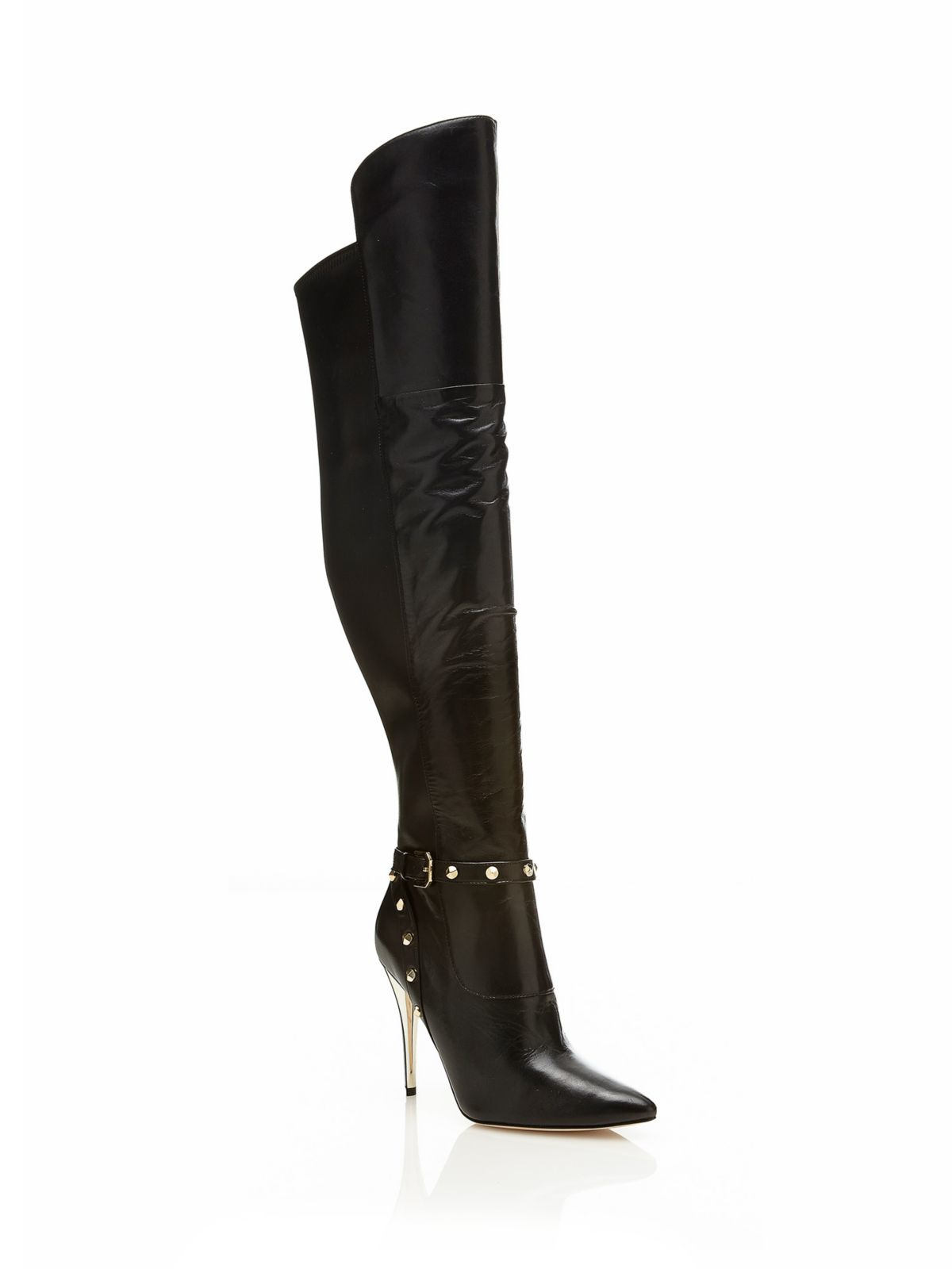 guess marciano bettina leather boot in black lyst