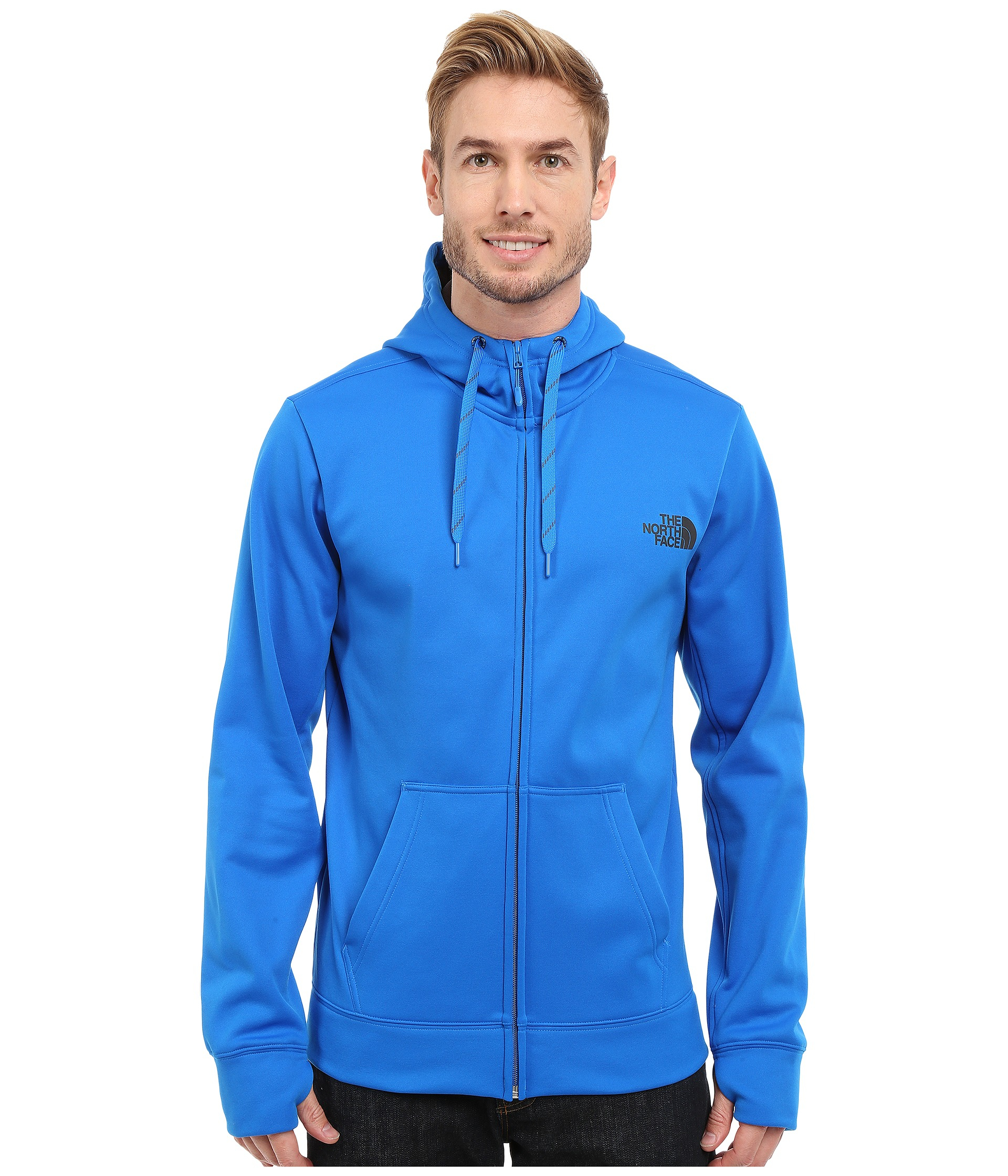 The north face Surgent Lfc Full Zip Hoodie in Blue for Men | Lyst