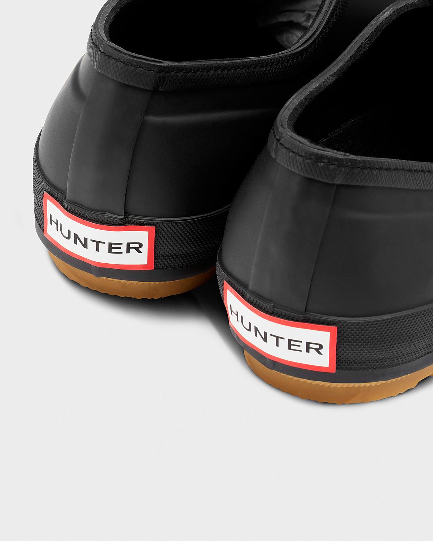 Hunter Mens Original Gum Sole Plimsolls In Black For Men