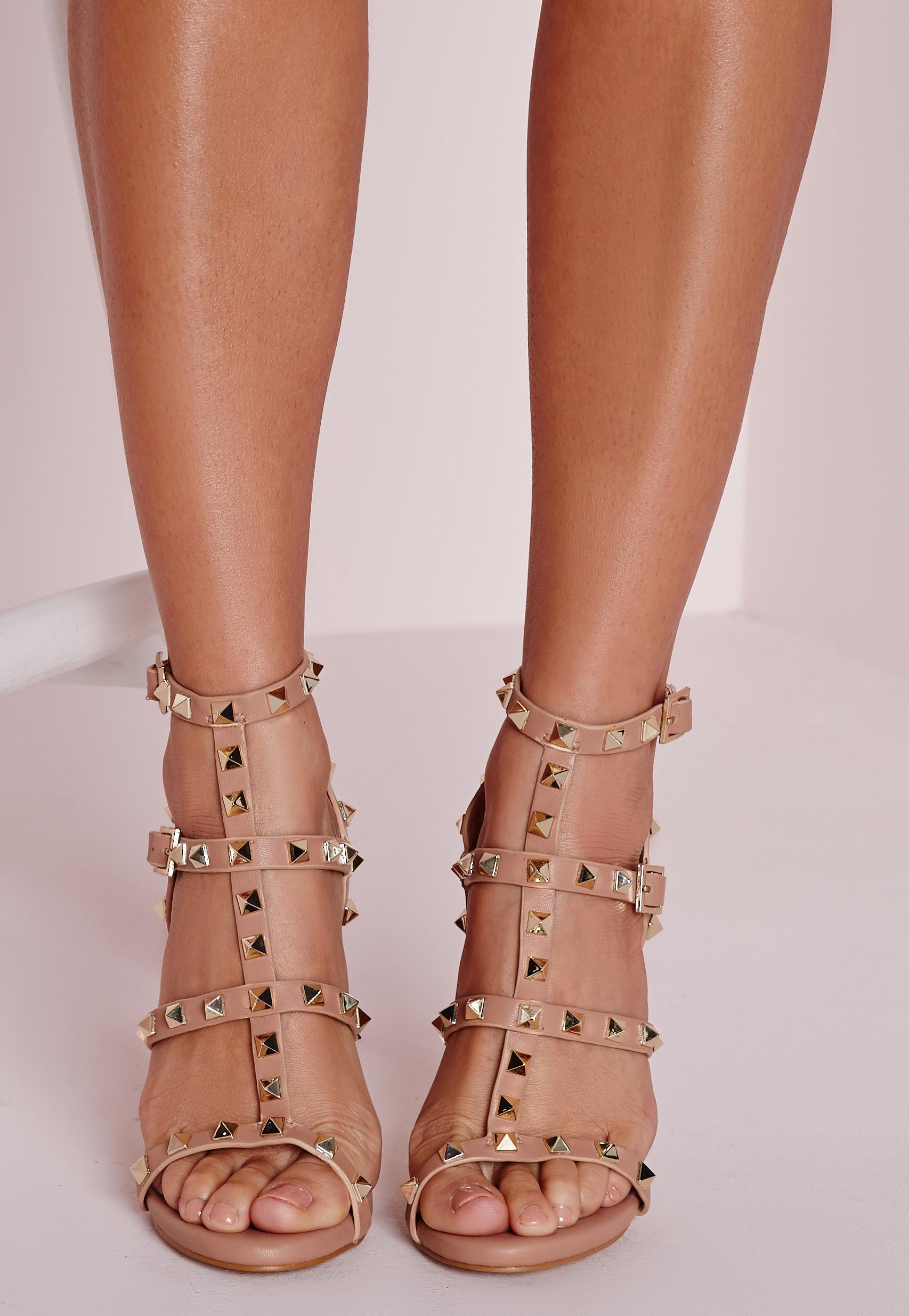 Studded Pink Heels