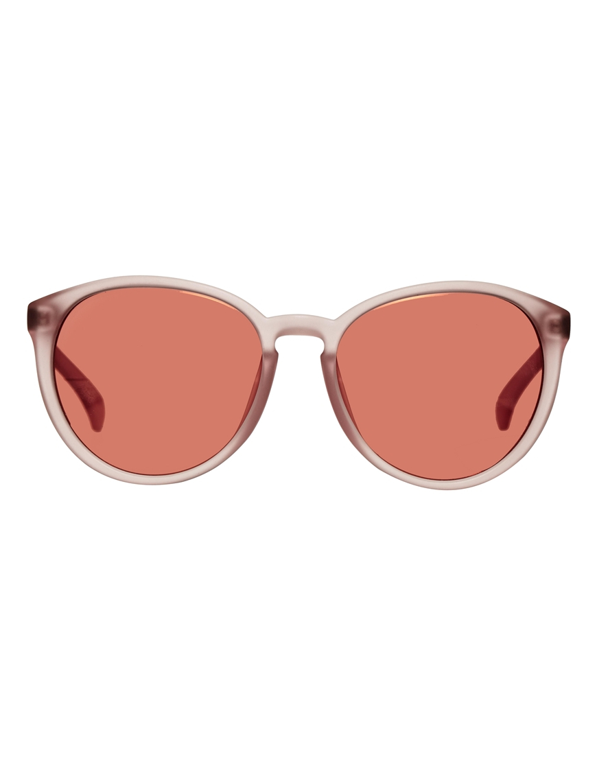 Ck Jeans Sunglasses  calvin klein jeans round sunglasses in pink lyst