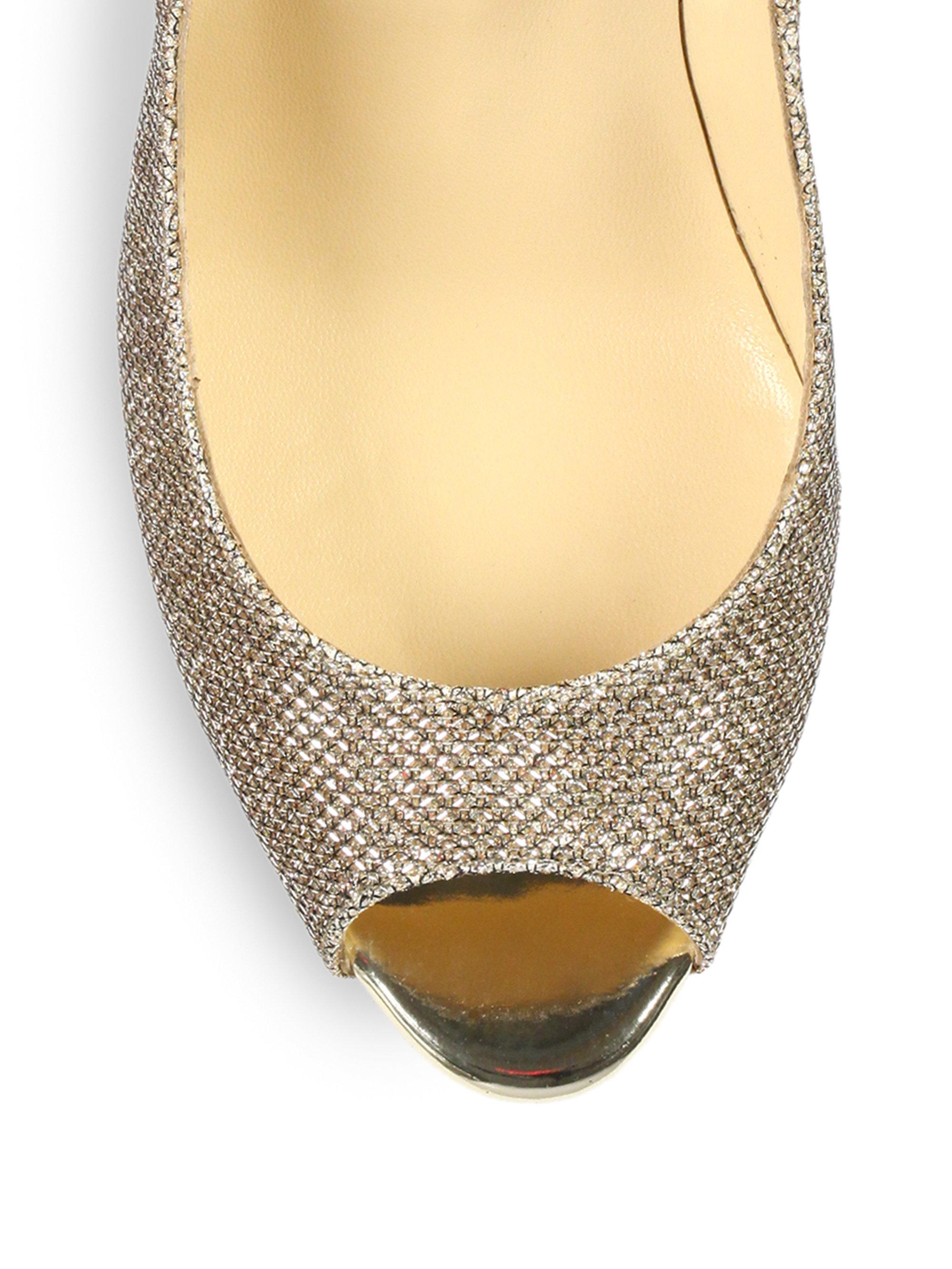 Christian louboutin Altavera Crystal-Embellished Leather Peep-Toe ...