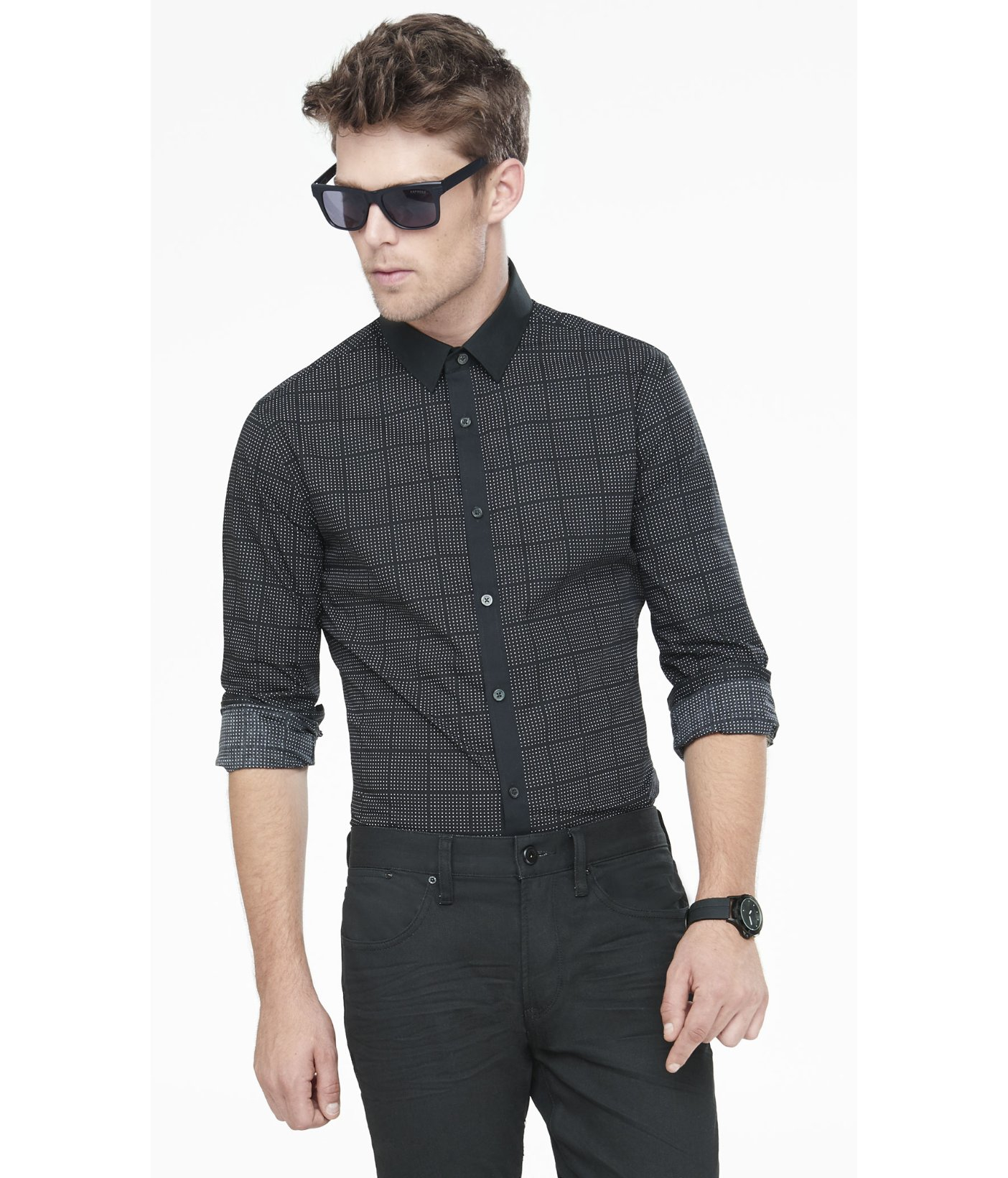 Fitted Black Shirt | Is Shirt