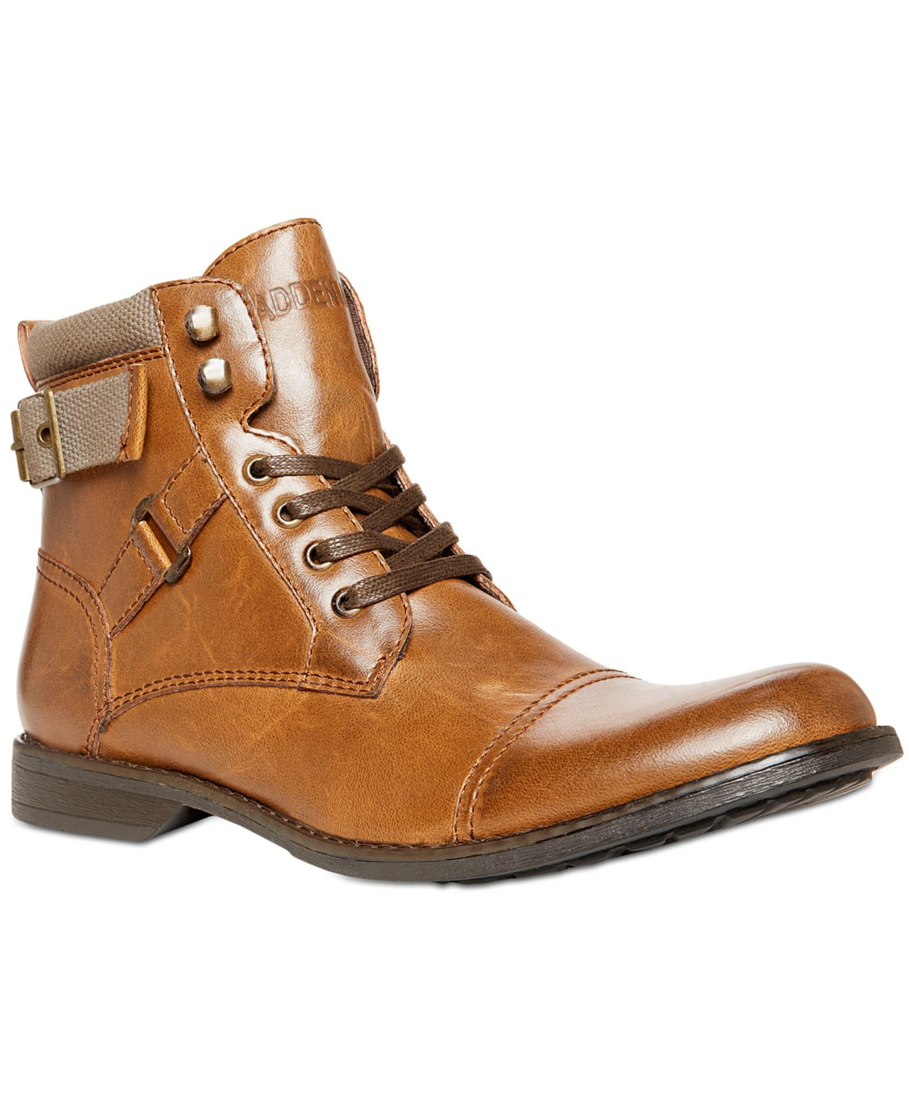Lyst Steve Madden Madden Kooper Lace Up Boots In Brown