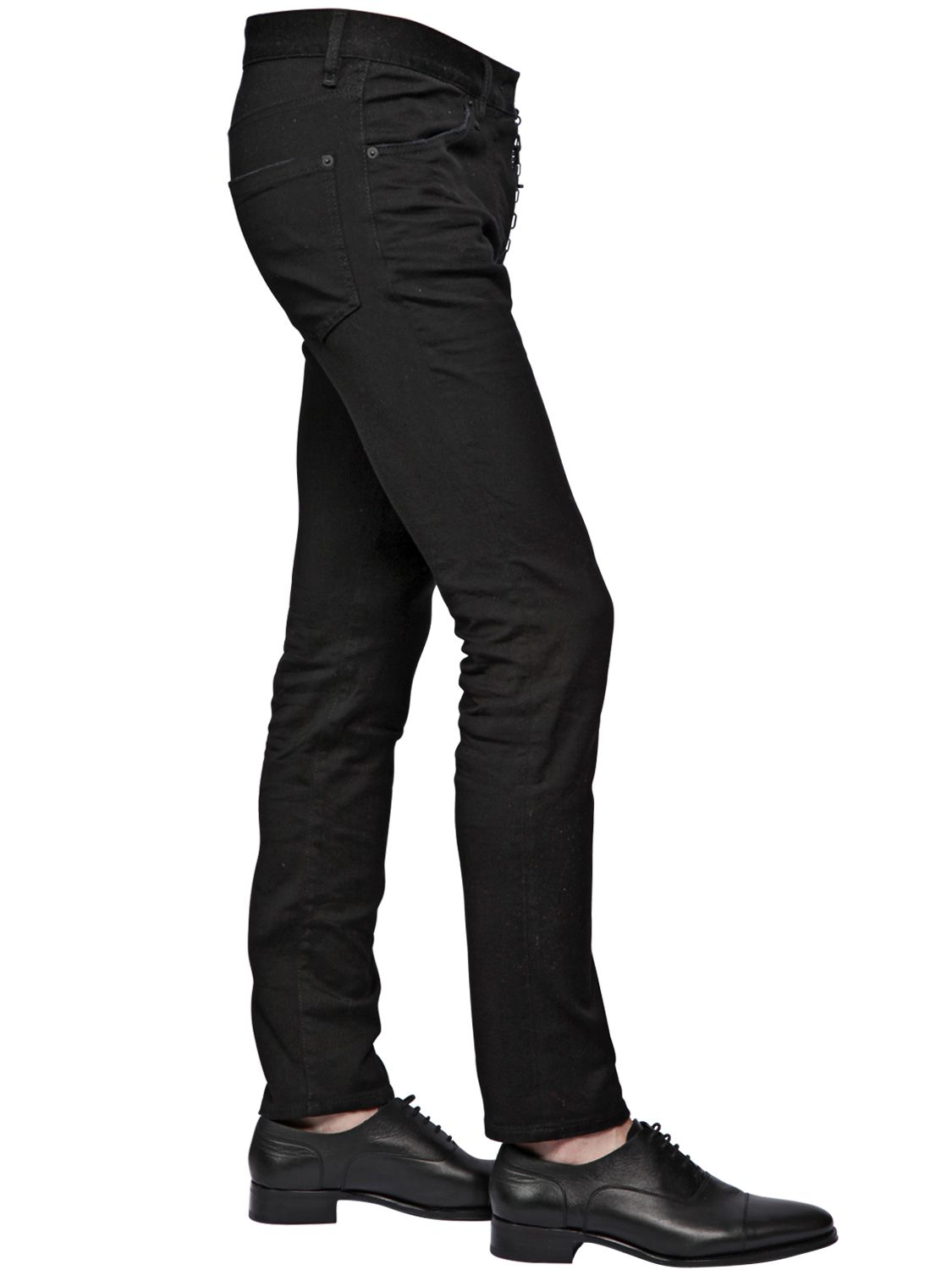 Dsquared² 16.5cm Cool Guy Blk Stretch Denim Jeans in Black ...