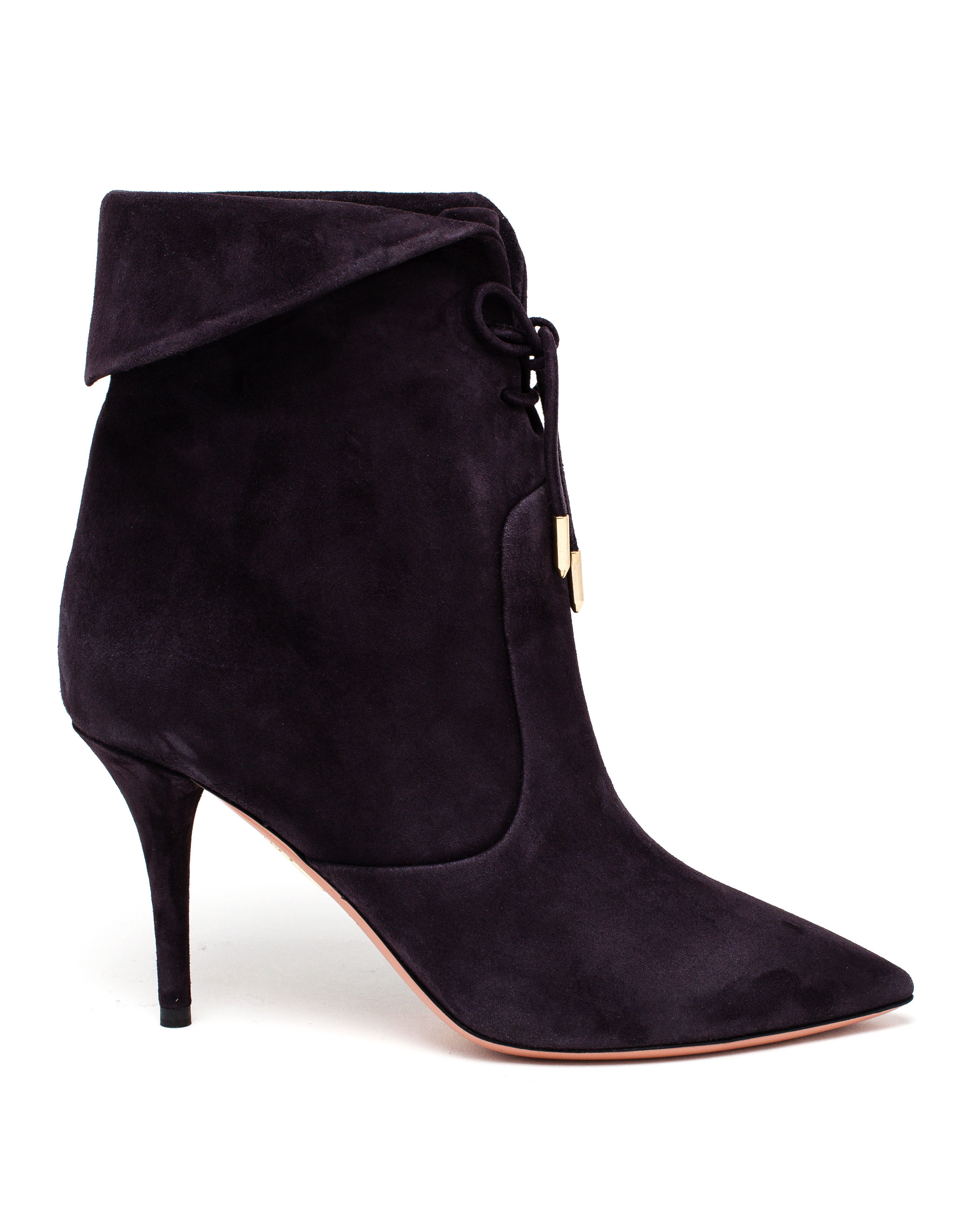 lyst aquazzura tribeca ankle boots in gray. Black Bedroom Furniture Sets. Home Design Ideas