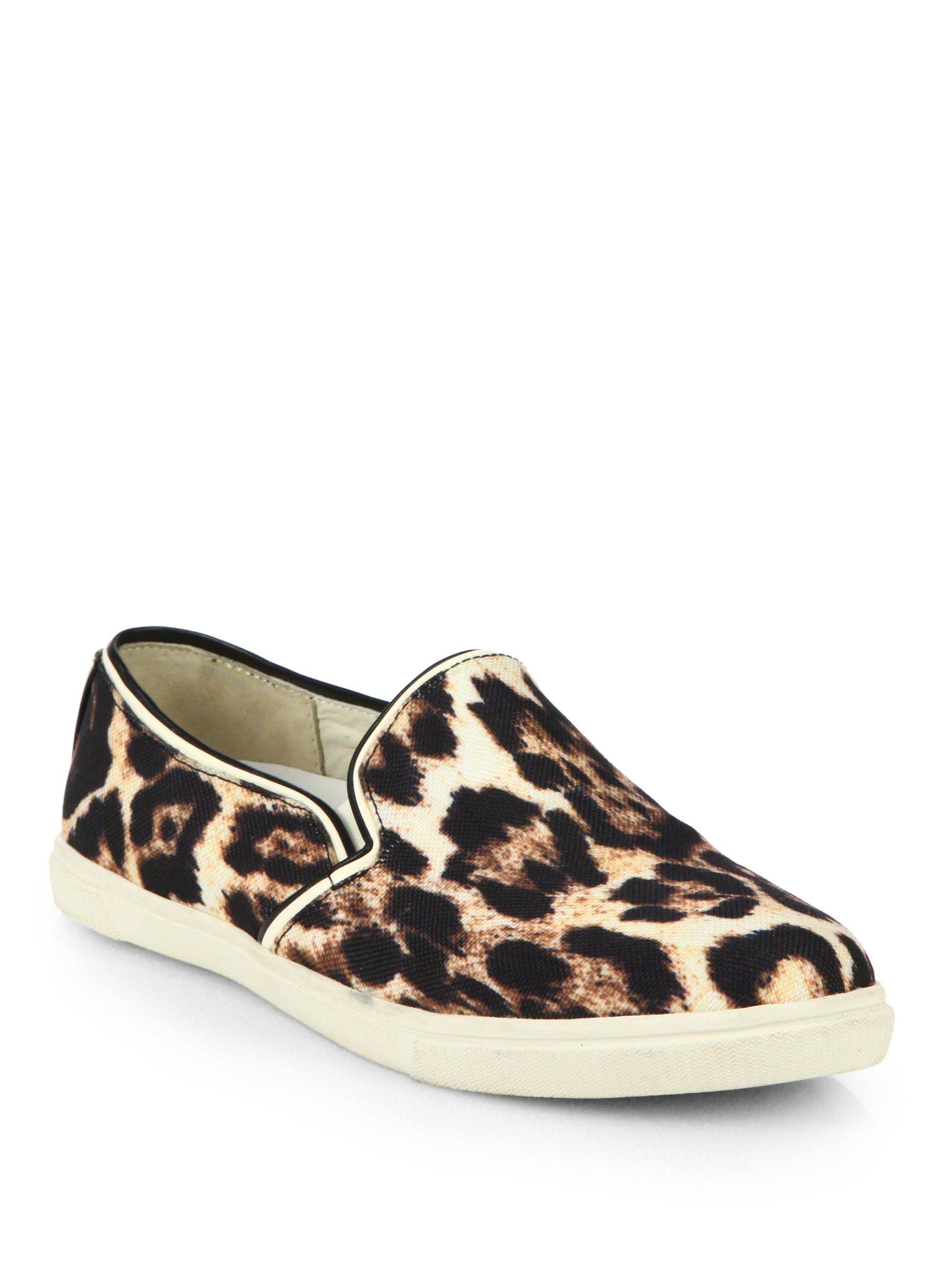 alice olivia pamela leopardprint sneakers in brown for men natural lyst. Black Bedroom Furniture Sets. Home Design Ideas
