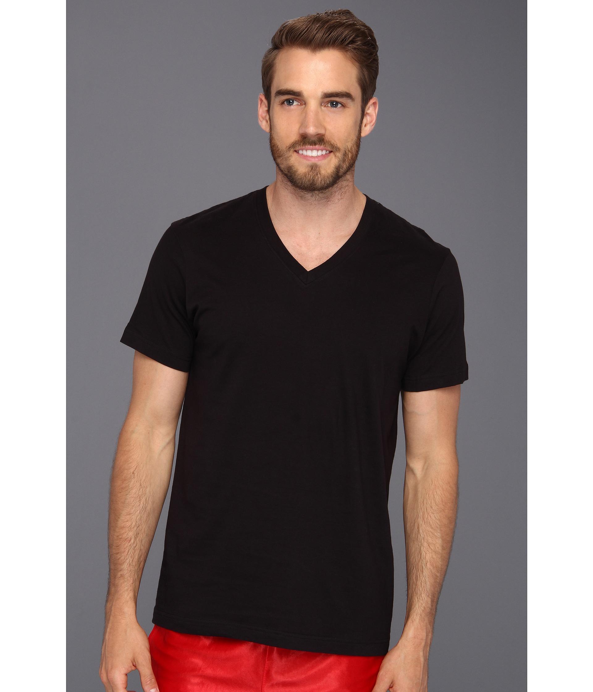 Low Cut Mens V Neck T Shirts
